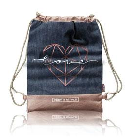Nappy-Bag LOVE (Jeans)