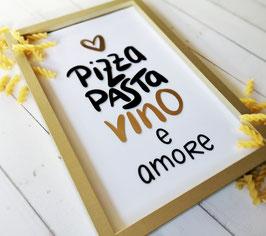 Plotterdatei PIZZA, PASTA, VINO