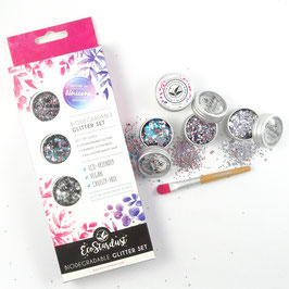 EcoStardust Unicorn Biodegradable Trio Glitter, Balm and Brush Set