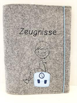 Zeugnismappe  Junge/ Schultasche