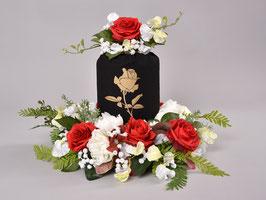 Urnenfutteral - BEKAON-schwarz-Rose- 14998