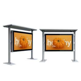 55 Zoll Haltestellen- Infoterminal, Outdoor IP65, mit PCAP Touch Screen, integrierten Ventilatoren und PC (Win 10 Beta vorinstalliert)