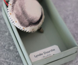 Broche textile oeil Lyndie Dourthe