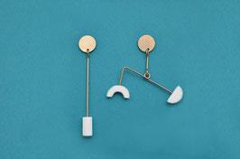 Boucles d'oreilles Mobile asymétriques