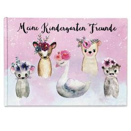 Kindergarten Freundebuch für Mädchen
