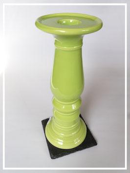 Hoher Kerzenständer aus Keramik / grün