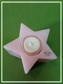 WaxKörper Stern / rosa