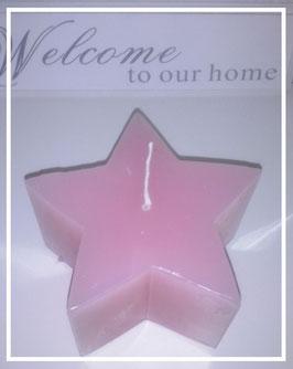 Stern - Kerze /  rosa