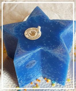 Stern - Kerze / blau