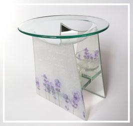 Duftlampe Glas (2teilig)Lavendel
