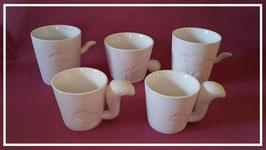 Windlicht - Tasse aus feinem Prozellan