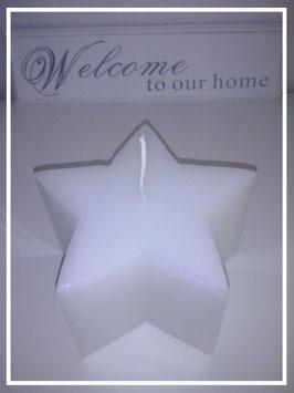 Stern - Kerze / weiß