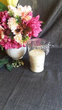 Aroma-Kerze im Glas / Rapswachs / Citronella