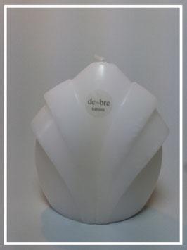 Jacquer- Kerze / weiß