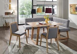 """""""Divine"""" - Moderne Eckbank aus Massivholz mit voll gepolsterter Sitzfläche. 100 % italienisches Leder."""