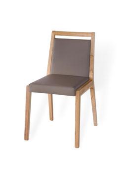 3 Stühle Enjoy in Kernbuche lackiert und Kunstleder Stone