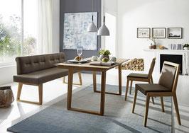 """""""Divine"""". Neueste Sitzbank aus Massivholz mit voll gepolsterter Sitzfläche. 100 % italienisches Leder."""