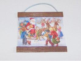 EF082 Weihnachtsbild, Wandtafel 6x6cm