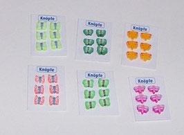 EF033 Knopfkarte mit Schmetterlingen sortiert