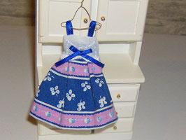 EF087 Kleid auf Kleiderhaken blau/rosa