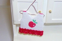 EF087 Kinderkleid Apfel auf Kleiderhaken