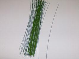 EF039 Steckdraht, Blumendraht 0,60mm Durchmesser 240mm lang grün lackiert ca. 50 STÜCK
