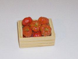 EF054 Kürbisse klein in Holzkiste 5 cm