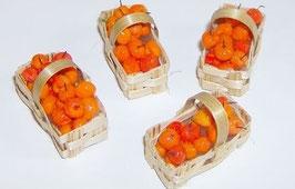 EF053 Handgefertigte Marillen, Aprikosen im Spankörbchen 3cm
