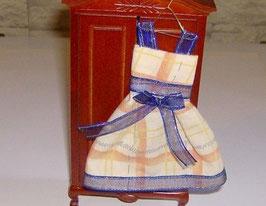 EF087 Kleid auf Kleiderhaken orange/blau
