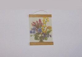 EF034 Wandtafel Erika und Veilchen 3,5 cm breit