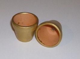 EF1803 Blumentöpfe 2 STÜCK GOLD 4 cm mit Loch