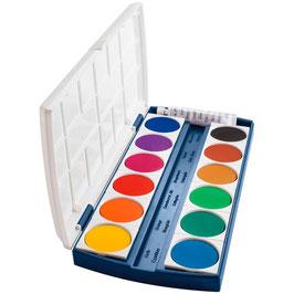 EF097 herlitz ST12 Wasserfarbkasten 12 Farben