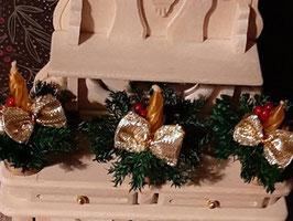 EF078 Weihnachtsgesteck, Adventsgesteck mit Kerze GOLD