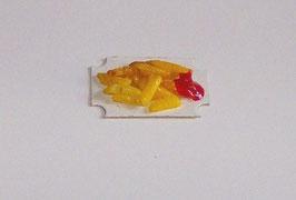 EF001 Kartontasse mit Pommes und Ketchup