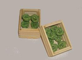 EF054 Salat in Holzkiste 5 cm, Doppellage Preis pro Kiste!