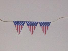 EF059 American Diner Wimpel zum Aufhängen 7cm ohne Band gemessen