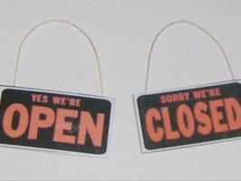 EF001 American Diner Open/Closed Tafel zum Aufhängen