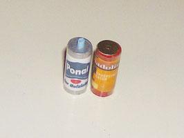 """EF015 Dosen mit """"Leim und Lasur"""" 2 Stück 2cm hoch"""