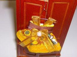 EF026 Kinderkleid Sonnenblume 7 cm auf Kleiderhaken