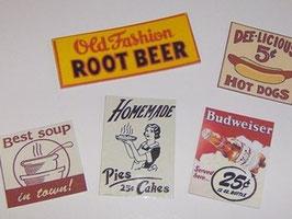 EF001 American Diner Reklametafeln Set 2