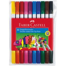 EF097 10 FABER-CASTELL Filzstifte farbsortiert