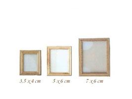 EF012 GK Wechselbilderrahmen, Holz 7x6cm für 6x4,7cm Bild