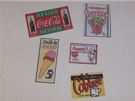 EF001 American Diner Reklametafeln Set 3