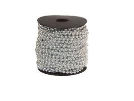 EF1703 GK Perlenkette 1 Meter silber 3mm