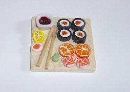 EF055 Platte 3,5x3,5 cm mit Sushi