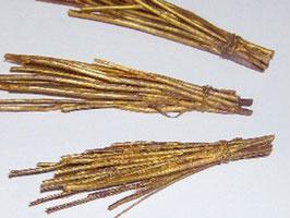 EF082 Krampusrute gold 7cm Preis pro Stück!