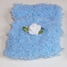 EF087 flauschiges Babysteckkissen blau 5x8cm