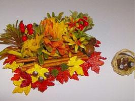 """EF1801 Gartenmodul 28 """"Herbst mit Kastanienkorb"""" 5x8cm"""