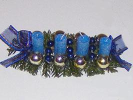 EF046 Weihnachtsgesteck, Adventsgesteck mit 4 Kerzen blau
