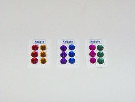 EF033 Knopfkarten 3 Stück bunt